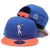 Mrs. Met (blue/orange) - New Era Snapback - The 7 Line - For Mets fans, by Mets fans. An independently owned clothing/lifestyle brand supporting the Mets players and their fans.