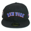 New York Mets Road Uni (BLK) - New Era fitted - The 7 Line - For Mets fans, by Mets fans. An independently owned clothing/lifestyle brand supporting the Mets players and their fans.