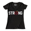 NEW YORK STRONG (womens) v-neck t-shirt - The 7 Line - For Mets fans, by Mets fans. An independently owned clothing/lifestyle brand supporting the Mets players and their fans.