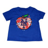 KIDS: NY Apple t-shirt (ROYAL) - The 7 Line - For Mets fans, by Mets fans. An independently owned clothing/lifestyle brand supporting the Mets players and their fans.