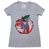 NY APPLE ladies v-neck (grey)