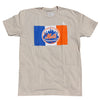 NYC X METS t-shirt (Cream) - The 7 Line - For Mets fans, by Mets fans. An independently owned clothing/lifestyle brand supporting the Mets players and their fans.