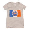 NYC x METS v-neck (women's) - The 7 Line - For Mets fans, by Mets fans. An independently owned clothing/lifestyle brand supporting the Mets players and their fans.