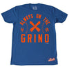 ALWAYS ON THE GRIND t-shirt - The 7 Line - For Mets fans, by Mets fans. An independently owned clothing/lifestyle brand supporting the Mets players and their fans.