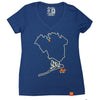 Queens Outline (womens v-neck) - The 7 Line - For Mets fans, by Mets fans. An independently owned clothing/lifestyle brand supporting the Mets players and their fans.