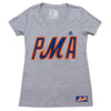 PMA ladies v-neck (grey) - The 7 Line - For Mets fans, by Mets fans. An independently owned clothing/lifestyle brand supporting the Mets players and their fans.