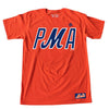PMA t-shirt (orange) - The 7 Line - For Mets fans, by Mets fans. An independently owned clothing/lifestyle brand supporting the Mets players and their fans.