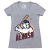 POLAR PETE ladies v-neck (grey) - The 7 Line - For Mets fans, by Mets fans. An independently owned clothing/lifestyle brand supporting the Mets players and their fans.