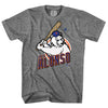 POLAR PETE t-shirt (grey) - The 7 Line - For Mets fans, by Mets fans. An independently owned clothing/lifestyle brand supporting the Mets players and their fans.
