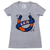 PUGSLEY ladies v-neck - The 7 Line - For Mets fans, by Mets fans. An independently owned clothing/lifestyle brand supporting the Mets players and their fans.