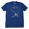 Queens Outline T-shirt - The 7 Line - For Mets fans, by Mets fans. An independently owned clothing/lifestyle brand supporting the Mets players and their fans.