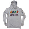 Shea Stadium Seats hoodie - The 7 Line - For Mets fans, by Mets fans. An independently owned clothing/lifestyle brand supporting the Mets players and their fans.