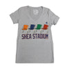 Shea Stadium Seats (women's) - The 7 Line - For Mets fans, by Mets fans. An independently owned clothing/lifestyle brand supporting the Mets players and their fans.