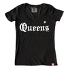 Straight Outta Queens (ladies v-neck)