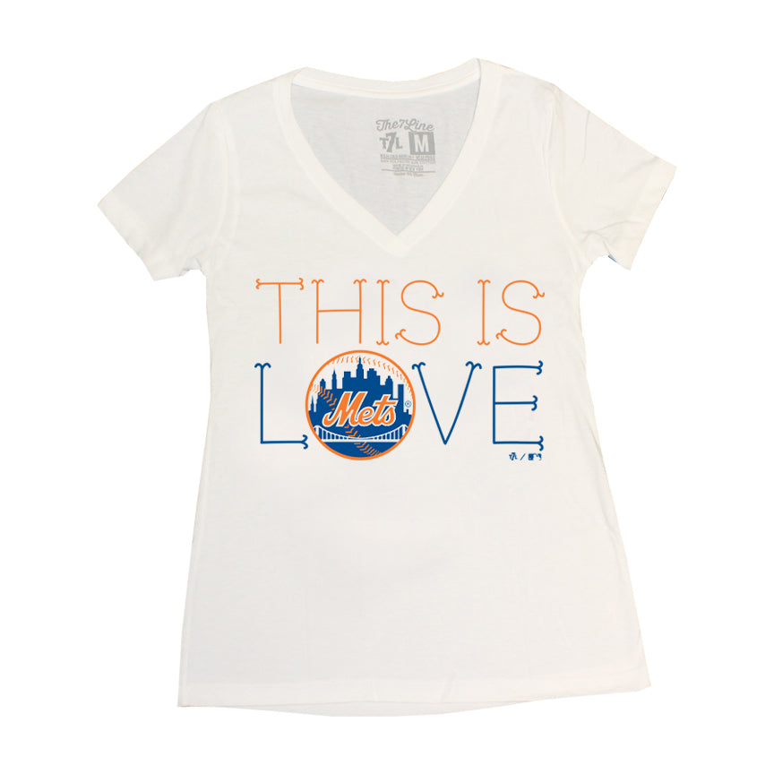 5accb6b9d This Is Love (ladies v-neck) - The 7 Line - For Mets
