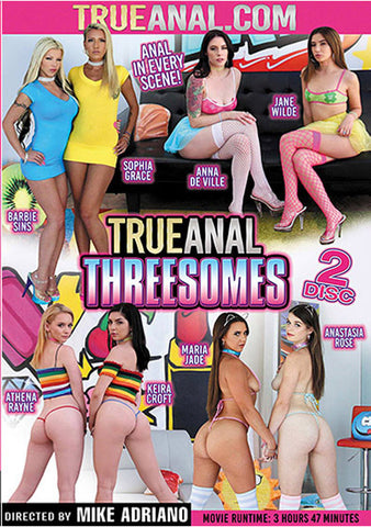 True Anal Threesomes (2 Disc Set) Adult Movies DVD