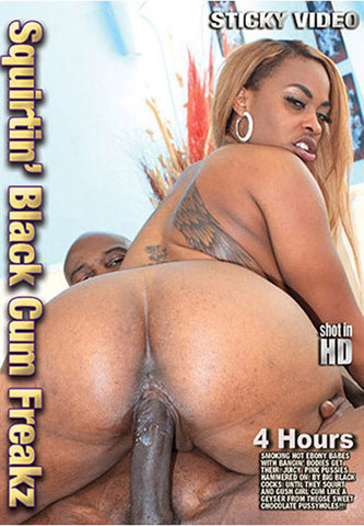 Squirtin' Black Cum Freakz Sex DVD