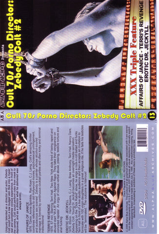 Cheap Cult 70's Porno Director Zebedy Colt 2 porn DVD