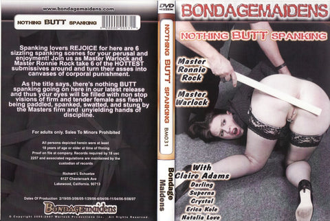 Cheap Nothing Butt Spanking porn DVD
