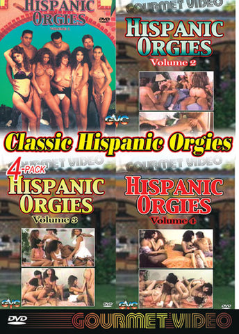 Classic Hispanic Orgies (4 Disc Set) Adult Sex DVD