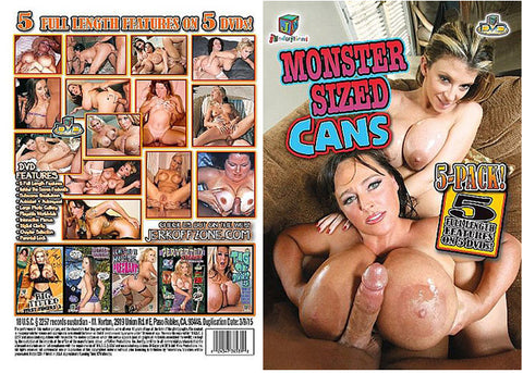 Cheap Monster Sized Cans 5 Pack (5 Disc Set) porn DVD