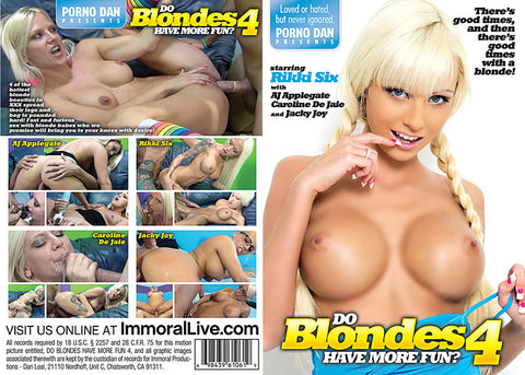 Cheap Do Blondes Have More Fun? 4 porn DVD