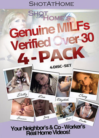 Cheap Genuine MILFs Verified Over 30 4 Pack (4 Disc Set) porn DVD