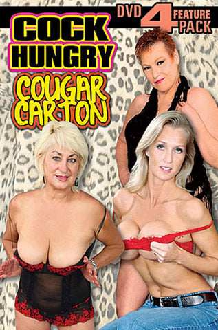 Cock Hungry Cougar Carton 4 Pack (4 Disc Set) XXX Adult DVD