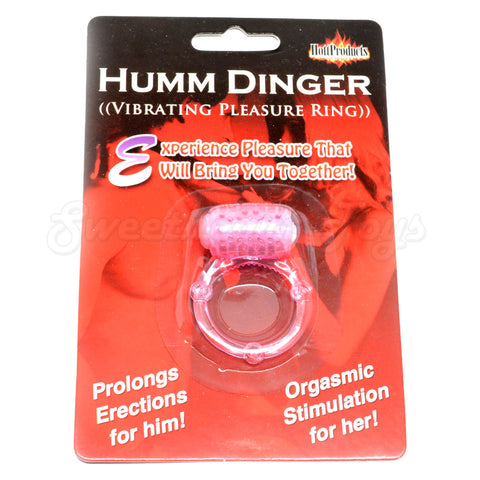 Humm Dinger Vibrating Cock Ring Pink