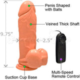Ignite Thick Series 9inch Suction Vibration Flesh