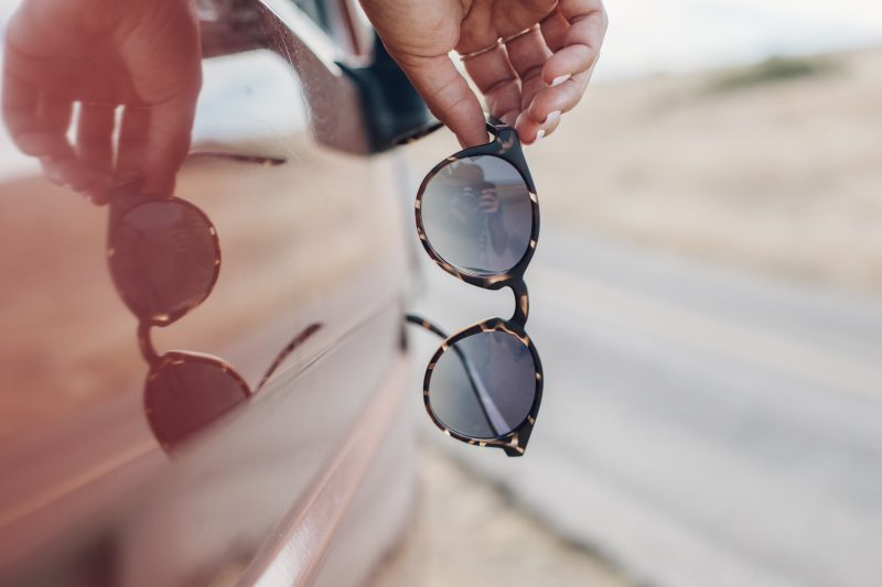 dipsea tortoise ocean, part of the round frame polarized sunglasses collection
