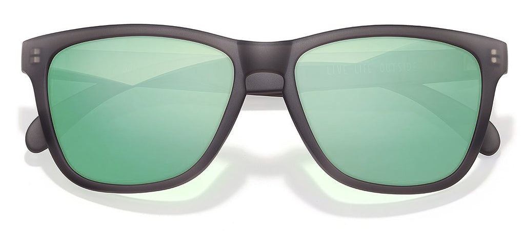 Sunski Headland Grey Lime Polarized Wayfarer Sunglasses