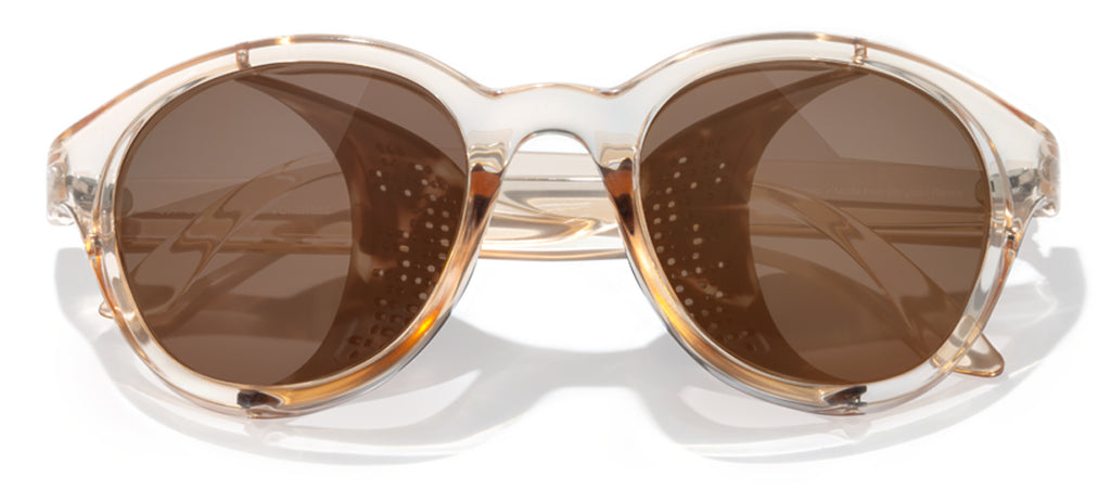 Sunski Volante Champagne Brown Retro Sunglasses