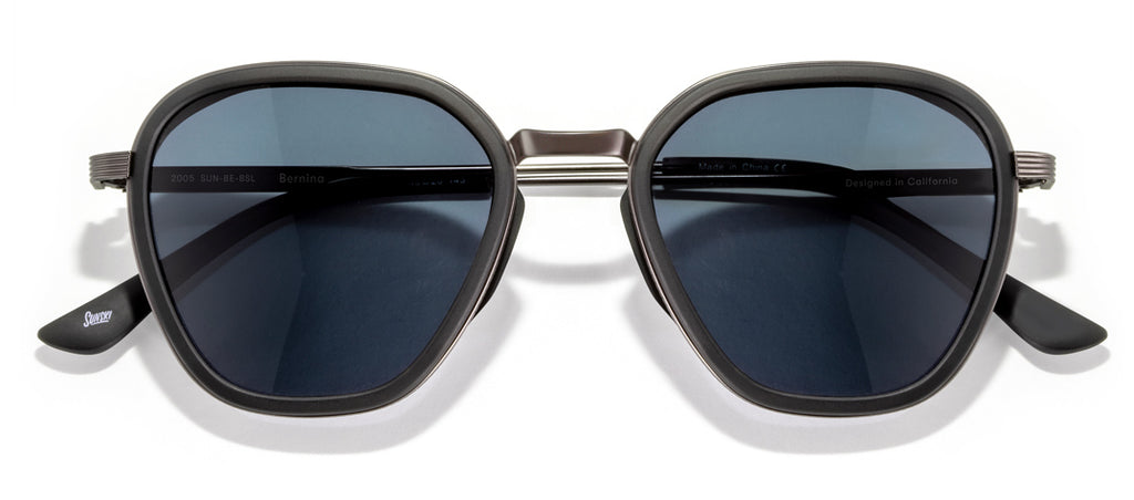 Sunski Bernina Black Slate Retro Sunglasses