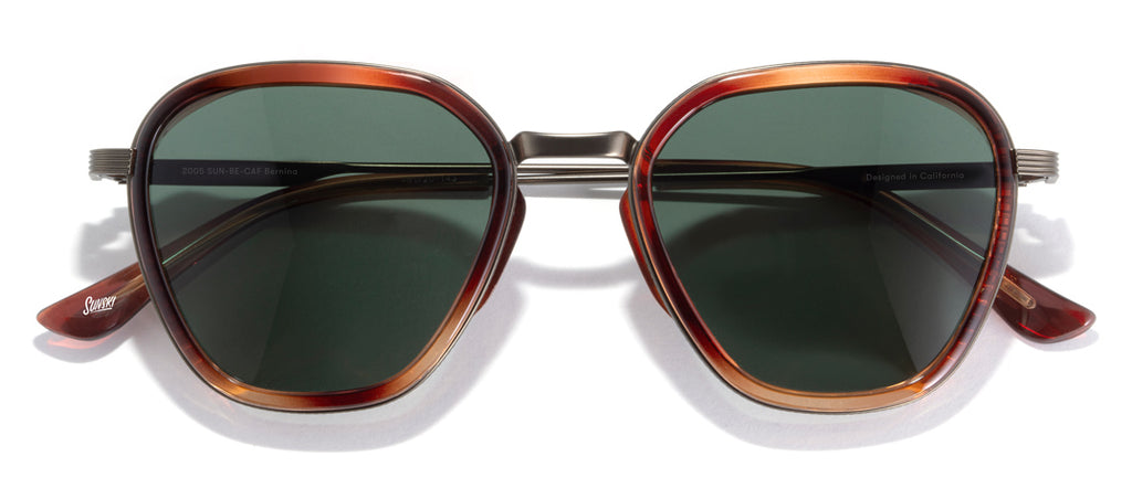 Sunski Bernina Caramel Forest Glacier Sunglasses with Side Shields
