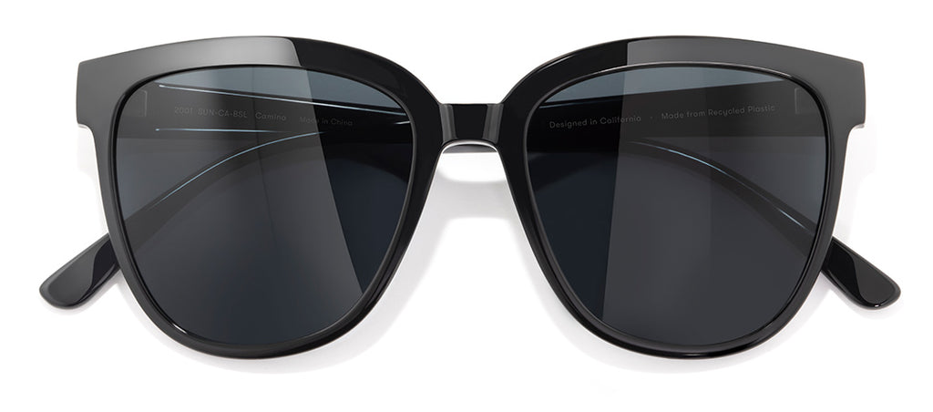 Sunski Camina Black Slate Retro Sunglasses