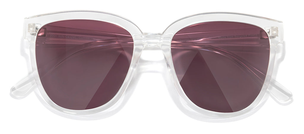 Sunski Camina Clear Velvet Fade Retro Sunglasses