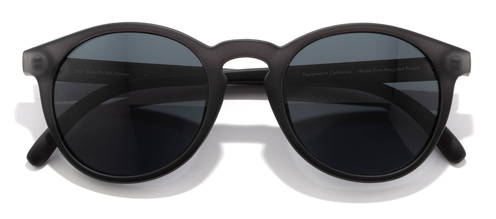 Sunski Dipsea Black Slate Retro Sunglasses