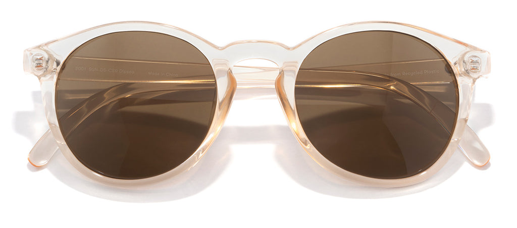 Sunski Dipsea Champagne Brown Retro Sunglasses