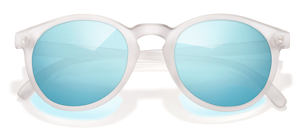 Sunski Dipsea Frosted Sky Retro Sunglasses