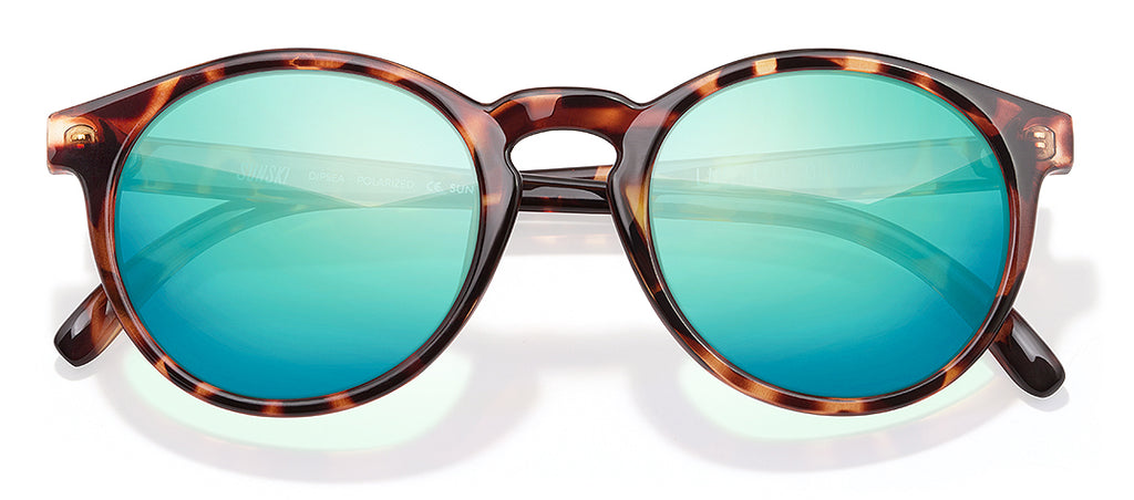 Sunski Dipsea Tortoise Emerald Retro Sunglasses