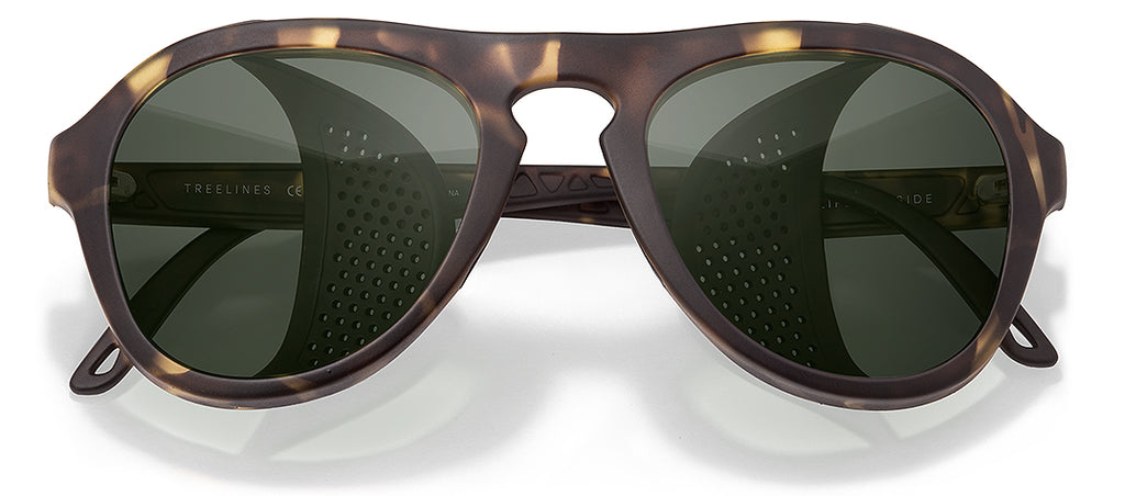 Sunski Treeline Tortoise Forest Glacier Sunglasses with Side Shields