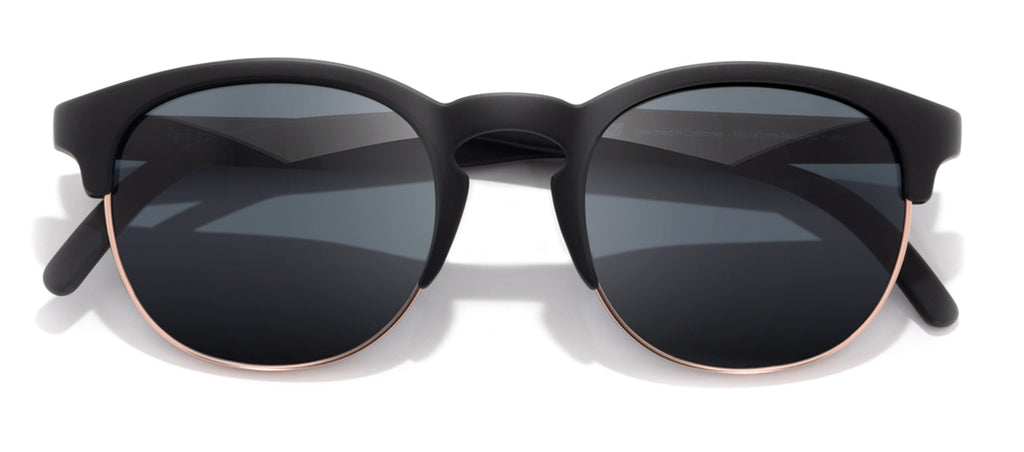 Sunski Avila Black Slate Retro Sunglasses