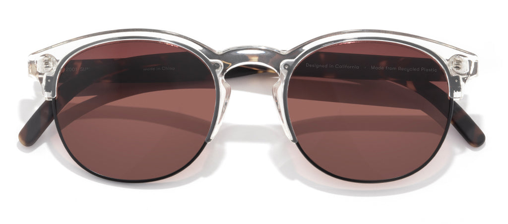 Sunski Avila Clear Tortoise Fade Retro Sunglasses
