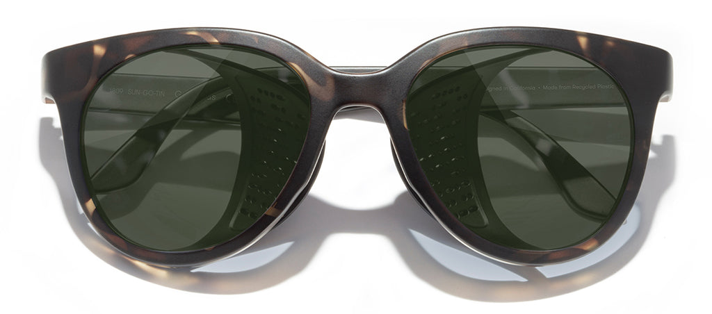 Sunski Gondola Tortoise Forest Glacier Sunglasses with Side Shields