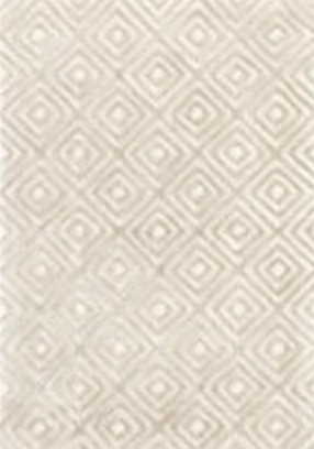 2x3 Cut Diamond Wool/Viscose Rug - Silver