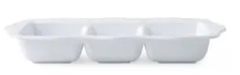 Berry & Thread Melamine Triple Section Server