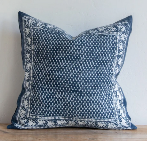 22x22 Pillow - Savannah Denim Blue