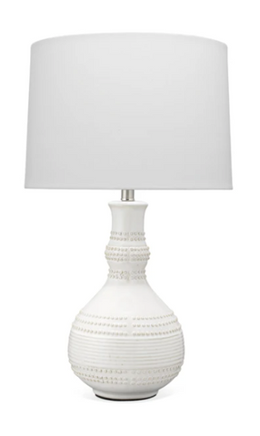White Drop Table Lamp