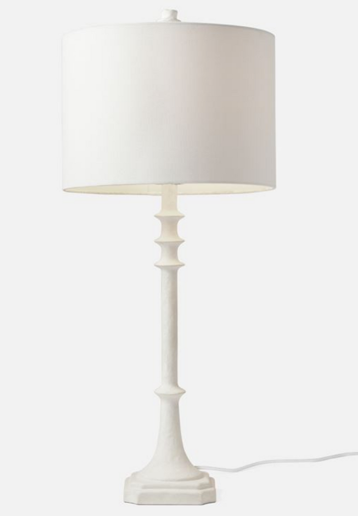 White Resin Lamp